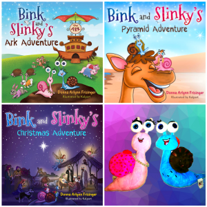 HARDCOVER BUNDLE! ALL 3 BINK AND SLINKY BOOKS – PLUS PLUSH SNAIL SET